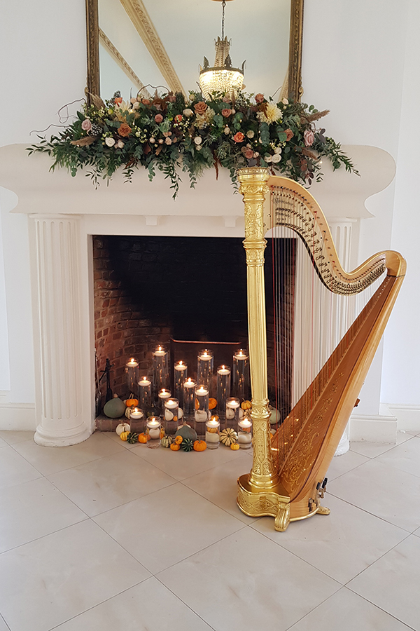 Autumnal fireplace
