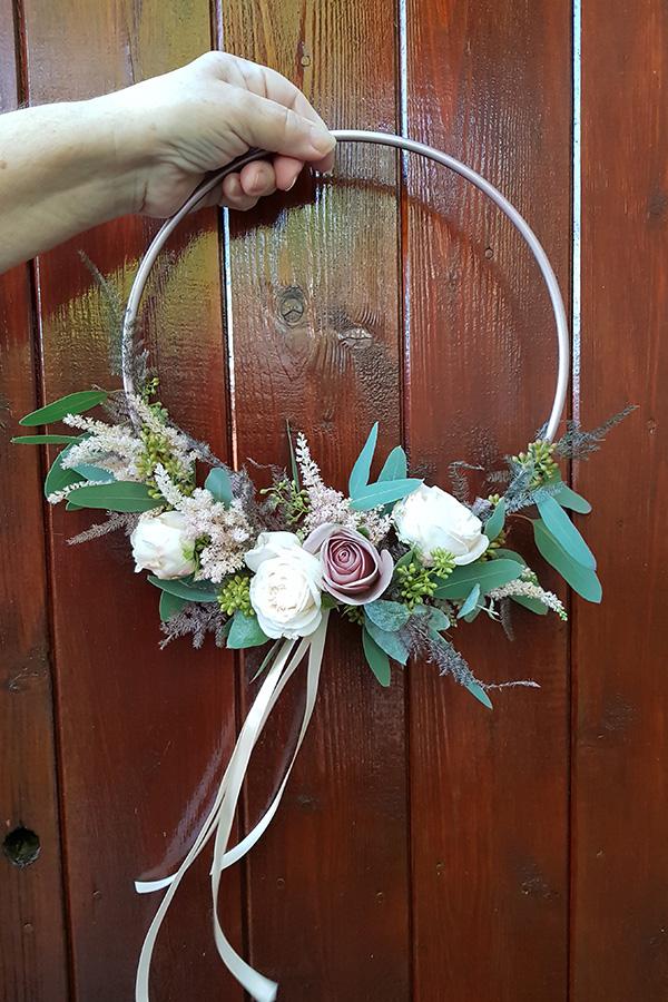 Flower girl hoop